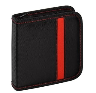 Vivanco 24 CD Wallet Black/Red