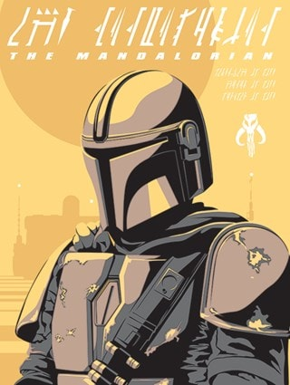 Star Wars: The Mandalorian: Illustration Canvas Print