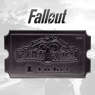 Fallout: Nuka World: Silver Plated Ticket Metal Replica (online only)