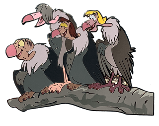 Four Vultures: Limited Edition Artland Pin