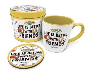 Life Is Better with Friends Mug Gift Set in Tin