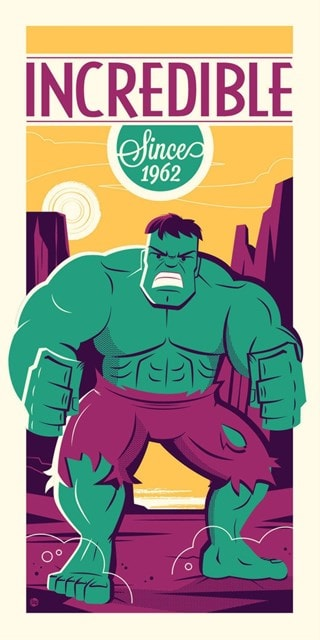 Hulk: Incredible Since 1962 Dave Perillo Limited Edition Silkscreen Print