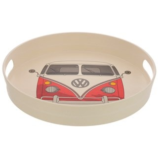 Volkswagen VW T1 Camper Bus Bamboo Composite Small Red Tray