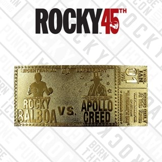 Rocky 45th Anniversary Fight Ticket: 24K Gold Plated Limited Edition Collectible