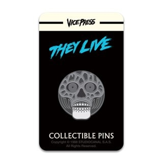 They Live: Alien Black & White Pin Badge