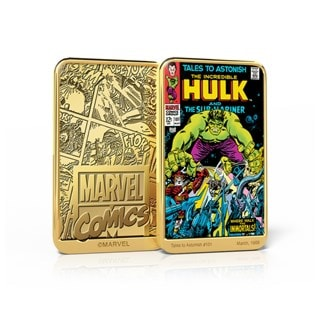 Incredible Hulk in Tales To Astonish #101: Gold Plated Marvel Ingot Collectible