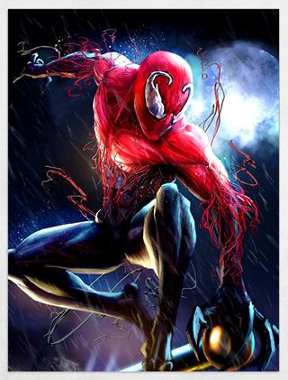 Spiderman Vs. Carnage Limited Edition Fine Art Print