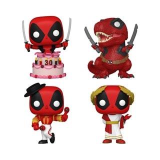 Deadpool 30th: Deadpool Marvel 4 Pack (hmv Exclusive) Pop Vinyl