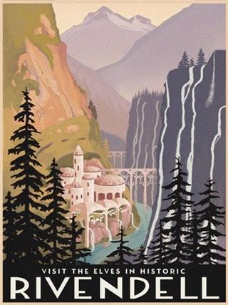 Visit The Elves Steve Thomas Lord of The Rings Art Print