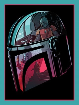 Star Wars: The Mandalorian: Helmet Section Canvas Print
