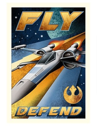 Fly And Defend Mike Kungl Star Wars Art Print