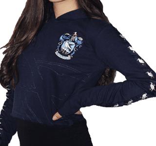 Harry Potter: Ravenclaw Ladies Cropped Hoodie
