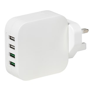 Vivanco USB Multi Port Plug With Quick Charge Port