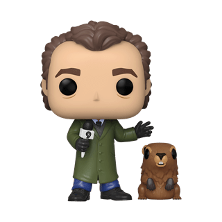 Phil Connors with Punxsutawney Phil (1045) Groundhog Day Pop Vinyl