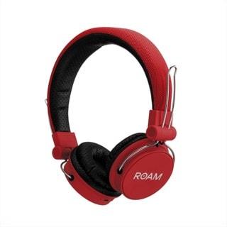 Roam Journey Red Bluetooth Headphones