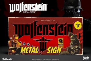 Wolfenstein II Metal Sign