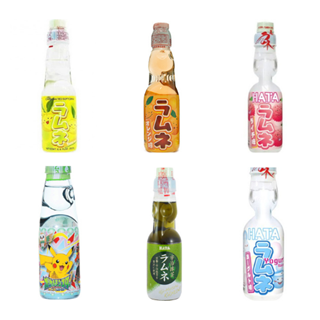 Hata Ramune Exclusive Mix Series: Soft Drink Pack of 6