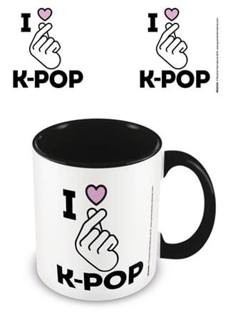 K-Pop: I Love K-Pop Black Coloured Inner Mug