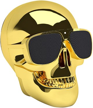 Jarre AeroSkull Nano Chrome Gold Bluetooth Speaker