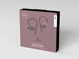 Jays M-Six Dusty Rose Sports Bluetooth Earphones