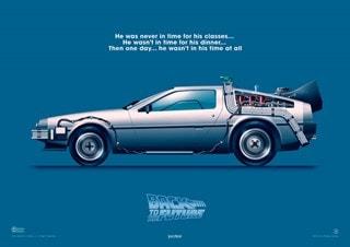 Back To The Future: Delorean Art Print