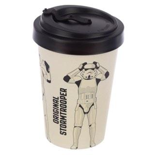 Original Stormtrooper White Reusable Screw Top Bamboo Composite Travel Mug