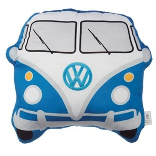 Volkswagen VW T1 Camper Bus Shaped Blue Cushion