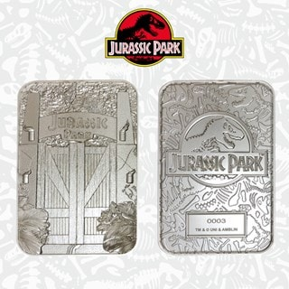 Jurassic Park: Entrance Gates Silver Plated Collectible