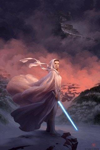 Until Our Last Breath Christophe Vacher Star Wars Princess Leia Art Print