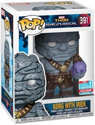 Pop Vinyl: Korg Holding Miek (NYCC 2018) (391): Thor Ragnarok: Marvel