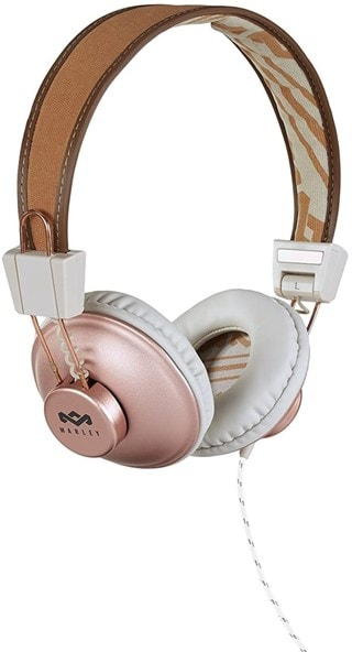 House Of Marley Positive Vibration Copper Headphones W/Mic (hmv exclusive)