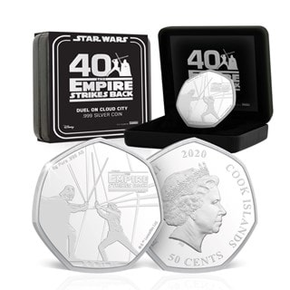 Duel on Cloud City: Pure Silver Star Wars Commemorative Coin