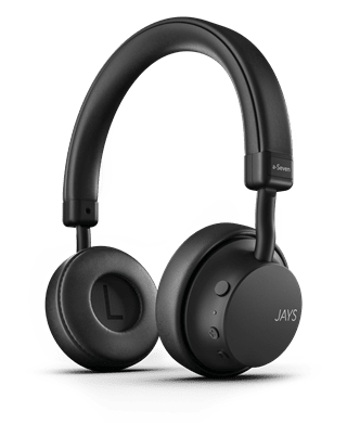 Jays A-Seven Black Bluetooth Headphones