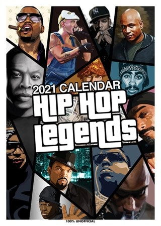 Hip Hop Legends: A3 2021 Calendar