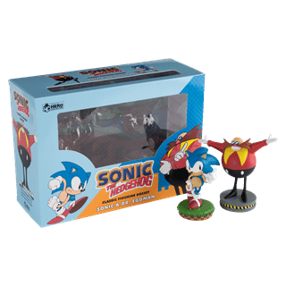 Sonic and Dr Eggman Figurine Set: Hero Collector