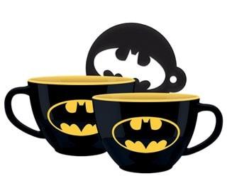 Batman: Symbol Cappuccino Mug & Stencil