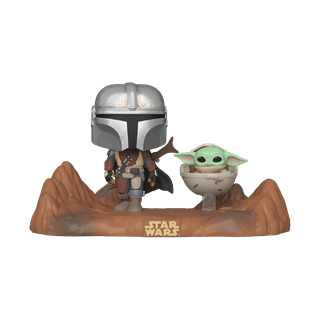 The Mandalorian with The Child (390) Star Wars Pop Vinyl Moments