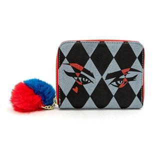 Loungefly X DC Comics Birds Of Prey Harley Eyes Zip Around Wallet