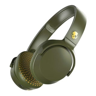 Skullcandy Riff Moss/Olive/Yellow Bluetooth Headphones