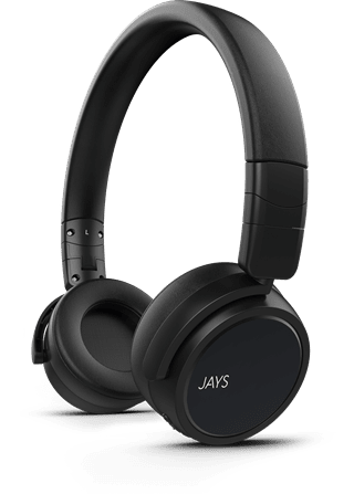 Jays X-Five Black Bluetooth Headphones