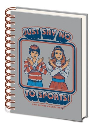 Steven Rhodes: Say No To Sports: A5 Wiro Notebook