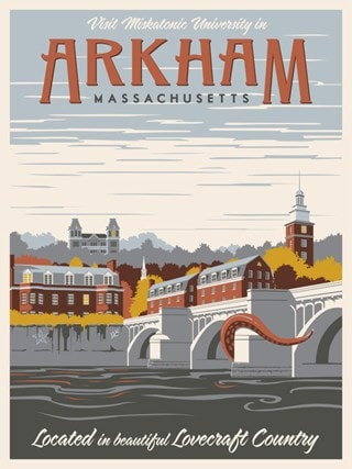 Visit Arkham Steve Thomas H. P. Lovecraft Art Print