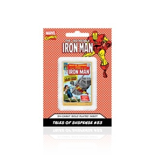 Invincible Iron Man Black Widow Strikes #53: Gold Plated Marvel  Ingot Collectible