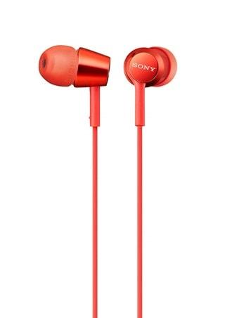 Sony MDREX155AP Red Earphones w/Mic
