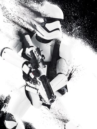Star Wars: Episode VII Stormtrooper Paint Canvas Print