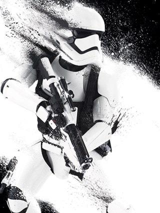Star Wars: Episode VII Stormtrooper Paint Canvas Print