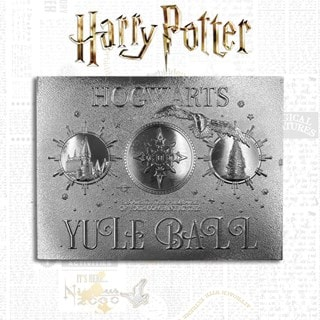 Harry Potter: Silver Plated Yule Ball Ticket Metal Replica (online only)