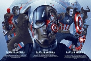 Captain America Stars And Stripes Devin Schoeffler Art Print