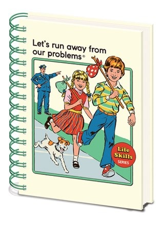Steven Rhodes: Let's Run Away From Our Problems: A5 Wiro Notebook