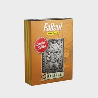 Fallout: Charisma Metal Perk Card